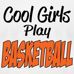 Basketball - cool girls play basketball - Men's T-Shirt by American Apparel