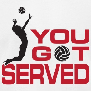 Volleyball - You got served - Men's T-Shirt by American Apparel