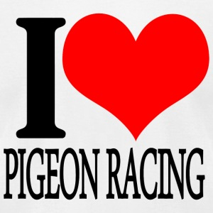 Pigeon racing - i love pigeon racing - Men's T-Shirt by American Apparel