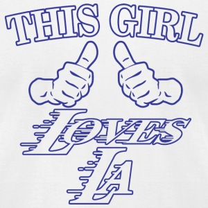 LA - this girl loves LA - Men's T-Shirt by American Apparel