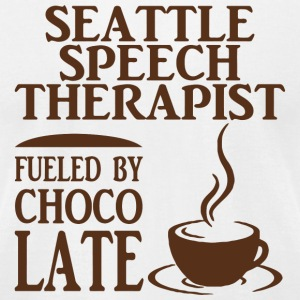 Chocolate - seattle speech therapist fueled by c - Men's T-Shirt by American Apparel