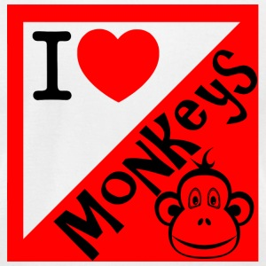 Monkey - I Love Monkeys - Men's T-Shirt by American Apparel