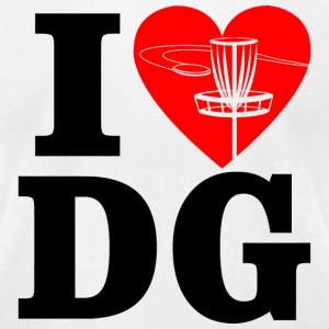 DG - i heart DG - Men's T-Shirt by American Apparel
