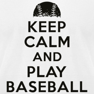 Baseball - Keep calm and play baseball - Men's T-Shirt by American Apparel
