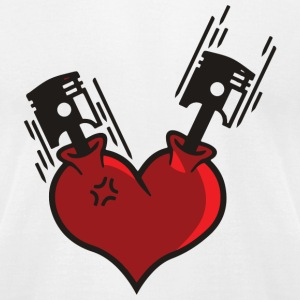 Heart - Heart Pistons - Men's T-Shirt by American Apparel