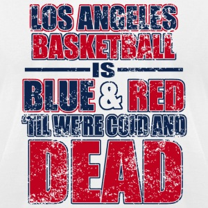 Los angeles - los angeles basketball is blue and - Men's T-Shirt by American Apparel
