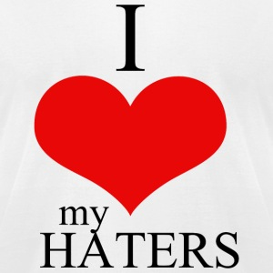 Hater - i love my haters - Men's T-Shirt by American Apparel