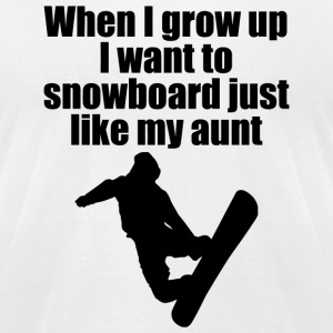 SNOWBOARD - WHEN I GROW UP I WANT TO SNOWBOARD J - Men's T-Shirt by American Apparel