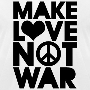 LOVE - MAKE LOVE NOT WAR - Men's T-Shirt by American Apparel