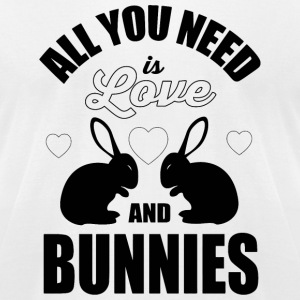 Bunny - All you need is love and bunnies! - Men's T-Shirt by American Apparel