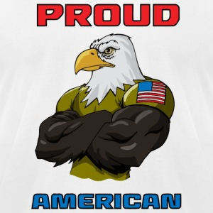 American - Proud American - Men's T-Shirt by American Apparel