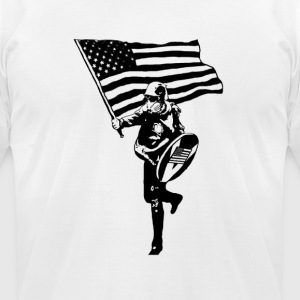 Based Stickman - Men's T-Shirt by American Apparel