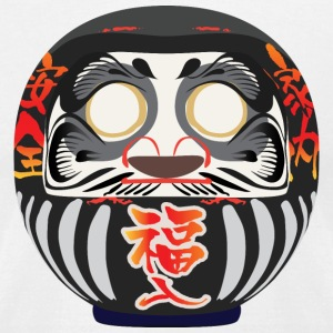 Daruma, a symbol of perseverance and good luck - Men's T-Shirt by American Apparel