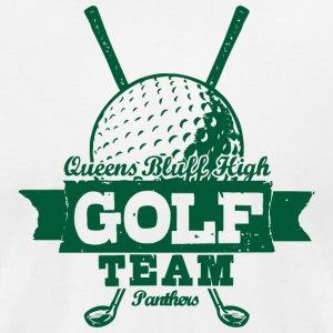 Queens Bluff High Golf Team Panthers - Men's T-Shirt by American Apparel