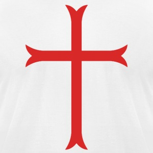 Crusader Cross - Men's T-Shirt by American Apparel