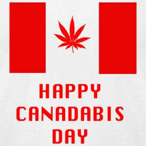 Happy Canadabis Day - Men's T-Shirt by American Apparel