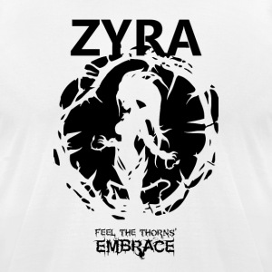 "Zyra ""Feel the thorns, Embrace"" - Men's T-Shirt by American Apparel"