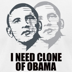 obama clone - Men's T-Shirt by American Apparel