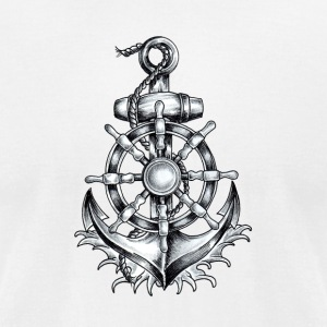 Anchor Tattoo 2 - Men's T-Shirt by American Apparel