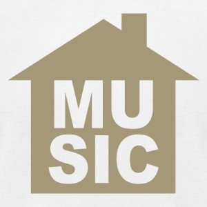 HOUSE MUSIC - Men's T-Shirt by American Apparel