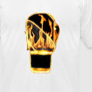 Flaming boxing glove - Men's T-Shirt by American Apparel