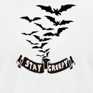 Stay Creepy Batface - Men's T-Shirt by American Apparel