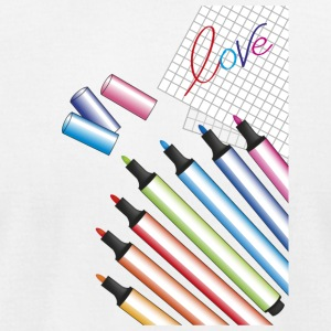 school and love - Men's T-Shirt by American Apparel