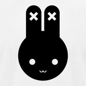 Minimalist Bunny - Men's T-Shirt by American Apparel