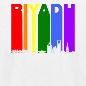 Riyadh Skyline Rainbow LGBT Gay Pride - Men's T-Shirt by American Apparel