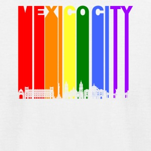 Mexico City Skyline Rainbow LGBT Gay Pride - Men's T-Shirt by American Apparel