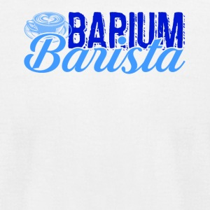 Barium Barista Green Shirt - Men's T-Shirt by American Apparel