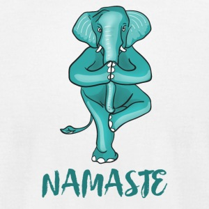 elephant namaste yoga balance humour gym karma lol - Men's T-Shirt by American Apparel