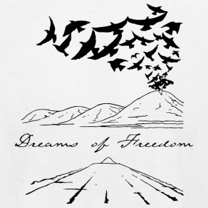 Dreams of Freedom - Men's T-Shirt by American Apparel