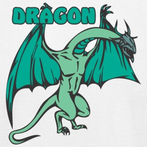 scary_dragon_colored - Men's T-Shirt by American Apparel