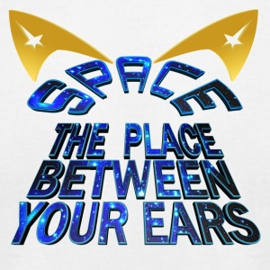 SPACE - The Place Between Your Ears - Men's T-Shirt by American Apparel