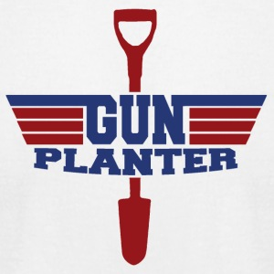 Gun Planter - Men's T-Shirt by American Apparel
