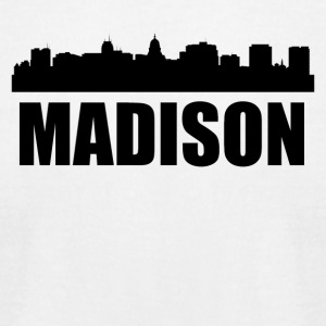 Madison WI Skyline - Men's T-Shirt by American Apparel