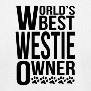 World's Best Westie Owner - Men's T-Shirt by American Apparel