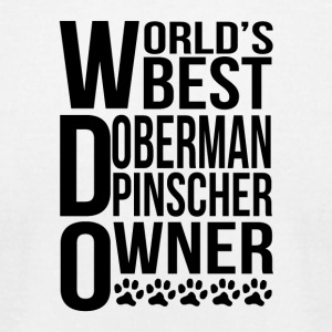 World's Best Doberman Pinscher Owner - Men's T-Shirt by American Apparel