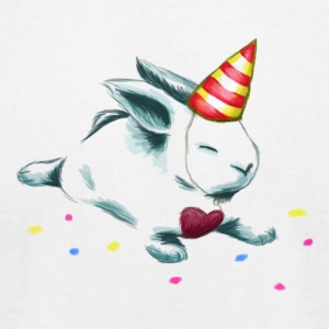 Birthday Bunny (or Unicorn Bunny) - Men's T-Shirt by American Apparel
