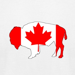 Canada Flag - Bison - Men's T-Shirt by American Apparel