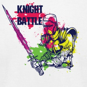KNIGHT BATTLE COLORFUL - Men's T-Shirt by American Apparel
