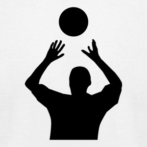 Volleyball Player Set - Men's T-Shirt by American Apparel