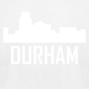 Durham North Carolina City Skyline - Men's T-Shirt by American Apparel
