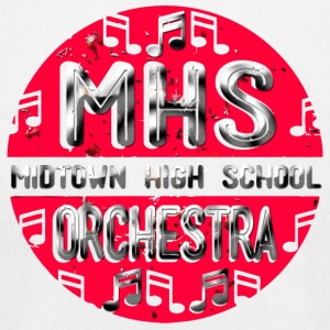 MHS Midtown High School Orchestra - Men's T-Shirt by American Apparel