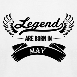 Legends are born in May - Men's T-Shirt by American Apparel