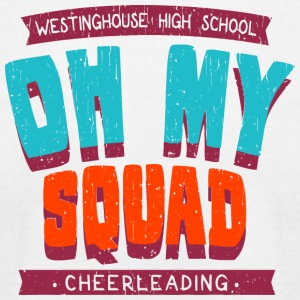 Westinghouse High School Oh My Squad Cheerleading - Men's T-Shirt by American Apparel