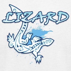 Lizard_with_text_19 - Men's T-Shirt by American Apparel