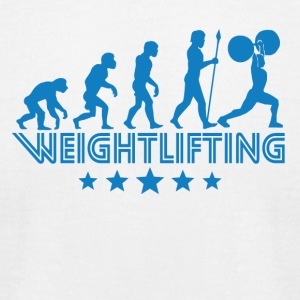 Retro Weightlifting Evolution - Men's T-Shirt by American Apparel