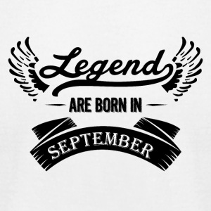Legends are born in September - Men's T-Shirt by American Apparel